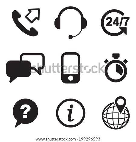 Customer Service Icons - stock vector
