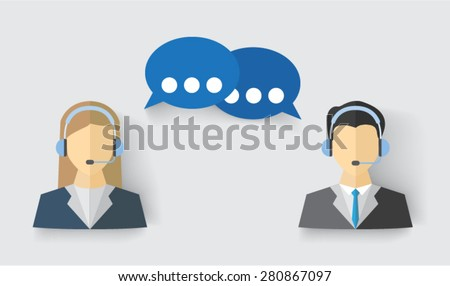 customer service people - stock vector
