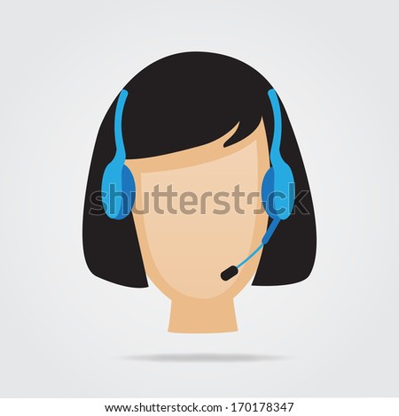 Customer Service Support Illustration - stock vector
