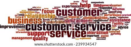 Customer Service word cloud concept. Vector illustration - stock vector