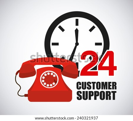 customer support - stock vector