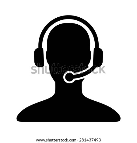 Customer support / customer service flat icon for apps and websites - stock vector