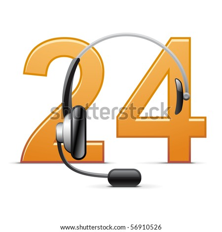 Customer support icon - stock vector