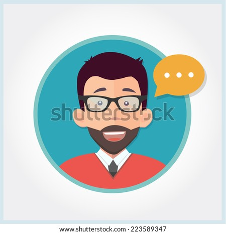 customer support manager giving advice  - stock vector