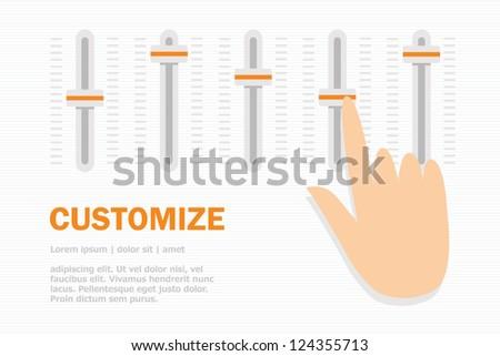 Customize - stock vector