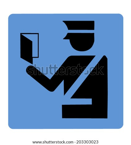Customs and Immigration Symbol - stock vector