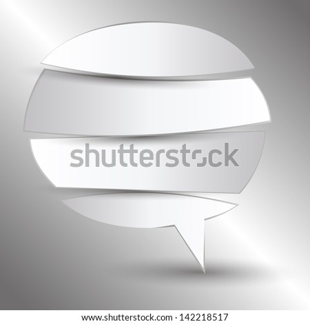 cut paper speech bubble - stock vector