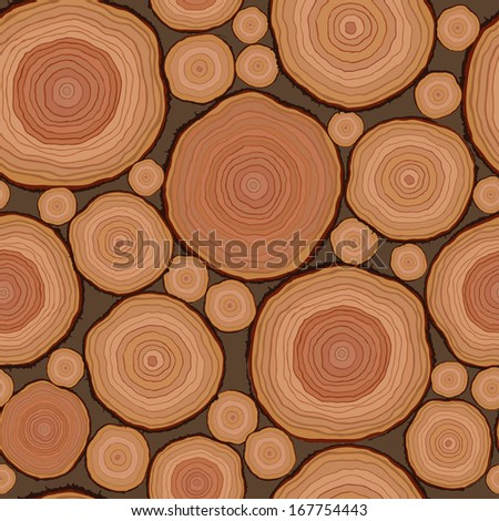 Cut wood pattern seamless in vector - stock vector