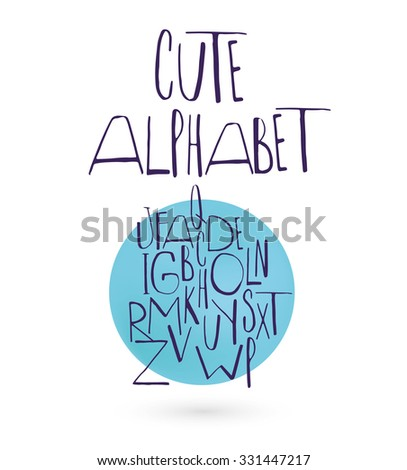 Cute alphabet for your design. - stock vector