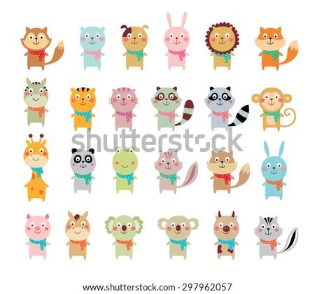 cute animal vector collection - stock vector