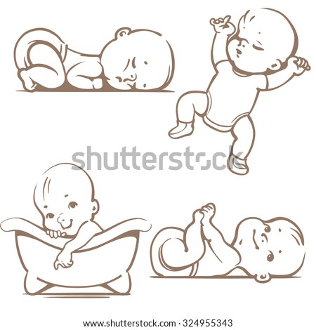 Baby Sleeping Stock Vectors & Vector Clip Art | Shutterstock