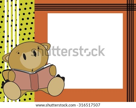 cute baby camel reading background in vector format - stock vector