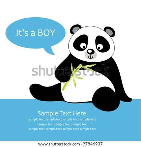cute baby shower. vector illustration - stock vector