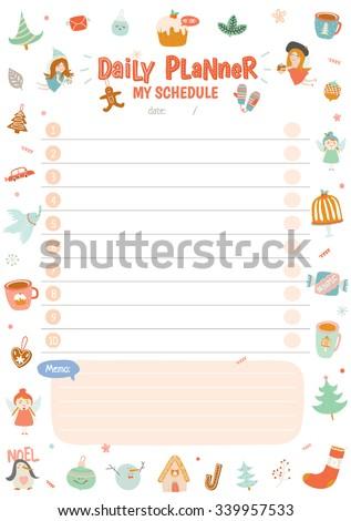 cute printable weekly schedule