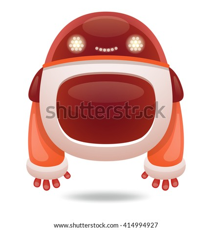 Cute Cartoon Robot - stock vector