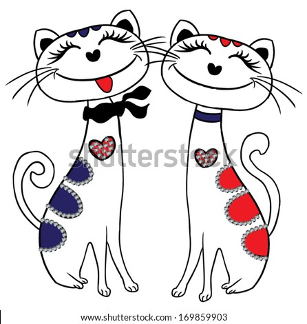 cute cat - stock vector