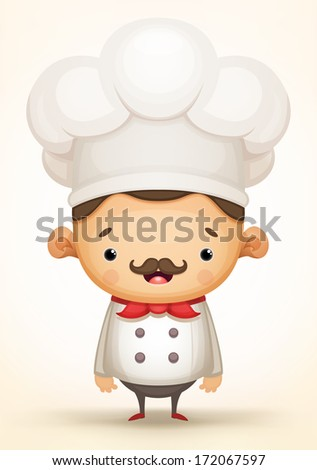 Cute Chef - stock vector