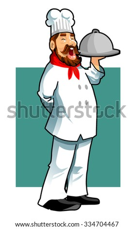cute chef vector - stock vector