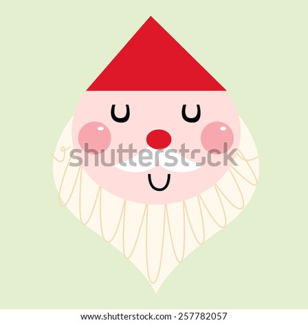 Cute christmas Father isolated on green background - stock vector