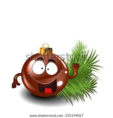 Cute christmas sphere vector - stock vector