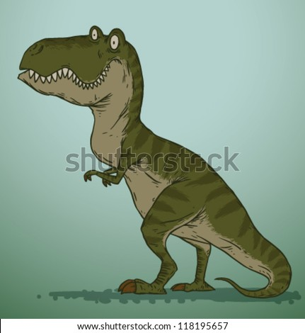 Cute Dinosaur 03, tyrannosaurus - stock vector