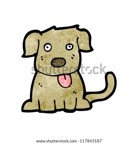 cute dog cartoon - stock vector