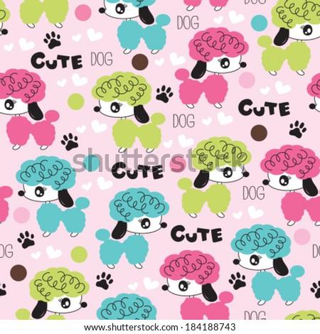 cute dog pattern vector illustration - stock vector
