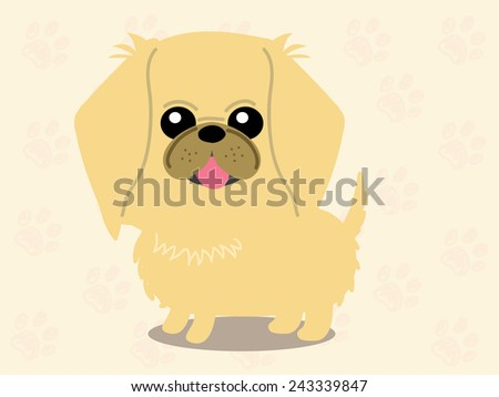 Cute dog - vector set of icons and illustrations  - stock vector