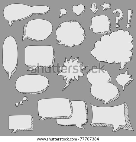 cute doodle speech bubble - stock vector