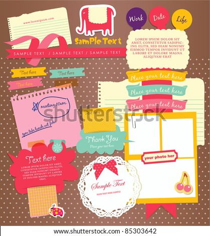 Cute elements design 3 - stock vector