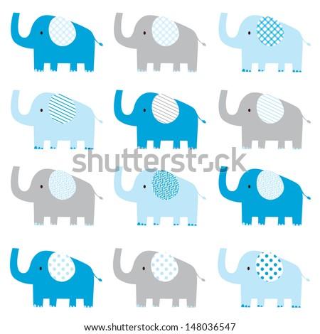 Cute Elephant Template Cute Elephant Pattern Stock