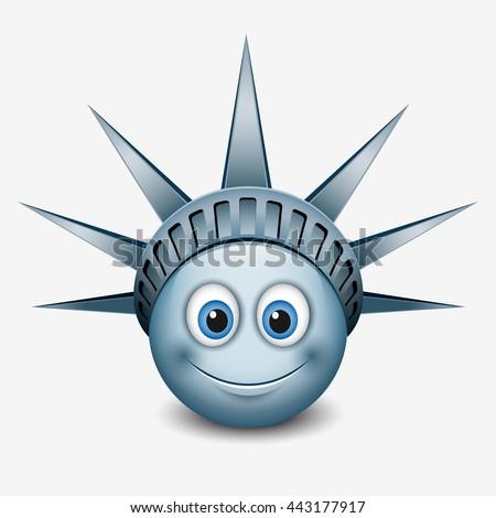statue of liberty face stock vectors amp vector clip art