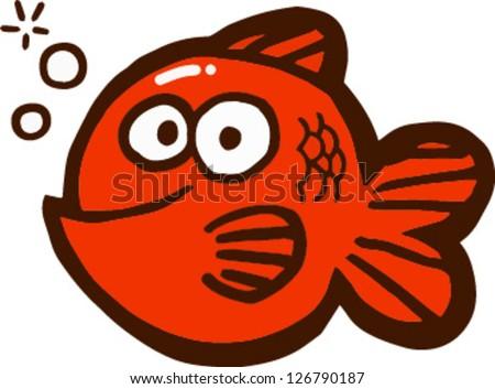 Cute fish vector illustration - stock vector