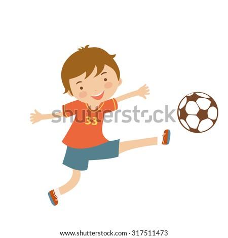 Cute football player illustration in vector format  - stock vector