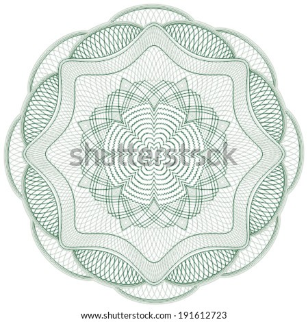 Cute guilloche elements for certificate or diploma / currency and money design / vector / CMYK color / All lines are easy editable - stock vector