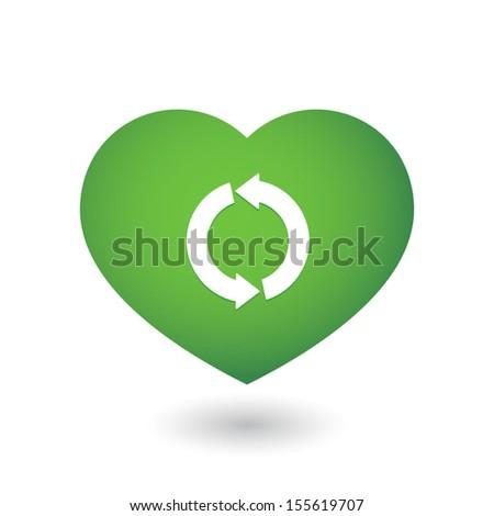 Cute heart - stock vector
