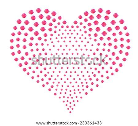 cute heart/T-shirt graphics/symbolic illustration heart/paste jewel heart/degrade heart graphic/heart emblem/Heart design/heart graphics for textile/heart jewelry for girls - stock vector