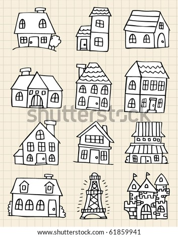 Line drawing house Stock Photos, Images, & Pictures ...