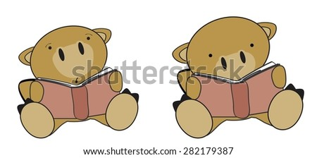 cute little camel reading cartoon set in vector format very easy to edit - stock vector