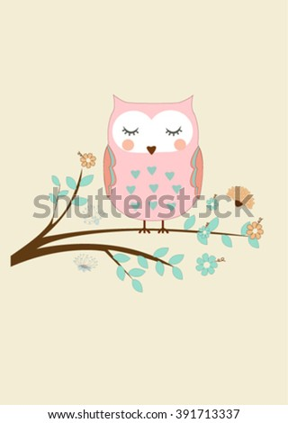 cute lovely pink printable illustration - stock vector