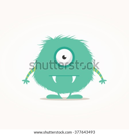 Cute monster vector illustration - stock vector