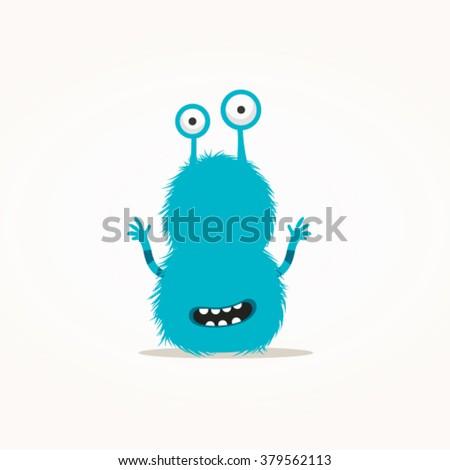 Cute monster vector illustration - stock vector