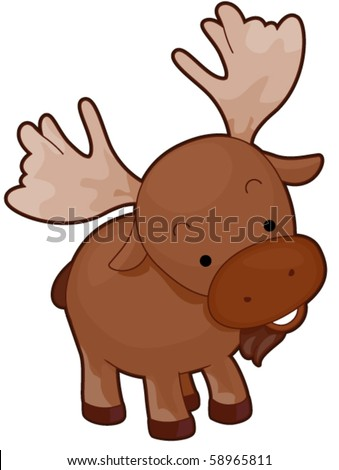 Baby moose Stock Photo...