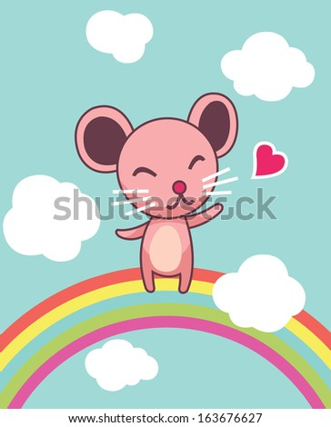 Cute Mouse  - stock vector