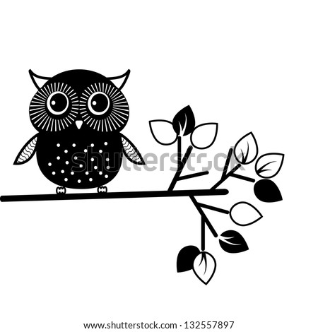 Cute Owl Logo Cute Owl Black And White