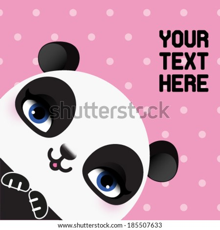 Cute panda head - stock vector