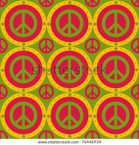 cute peace pattern - stock vector