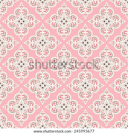 Cute pink Seamless abstract tiled pattern vector web background - stock vector