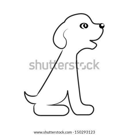 cute puppy - stock vector