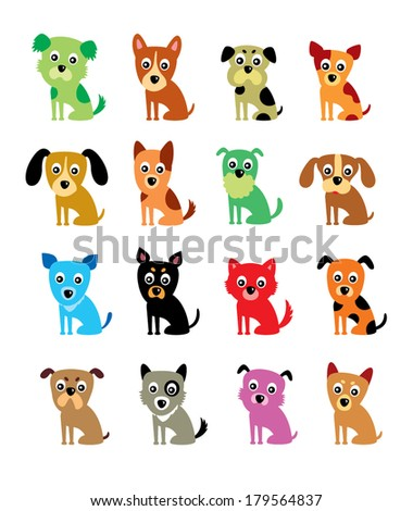 cute puppy vector - stock vector